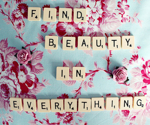 beauty, quote, and flowers image