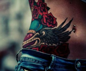 tattoo, piercing, and sexy image