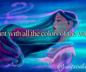 colors, wind, and disney image