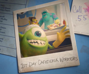 mike, cafeteria, and sulley image