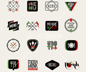 food, icon, and label image