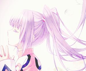girl, purple hair, and anime image