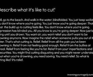 cutting, deeper, and drowning image