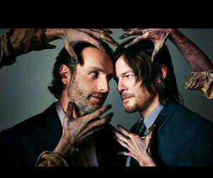 the walking dead, rick grimes, and daryl dixon image