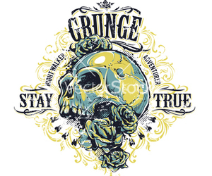 grunge, stay true, and rose image