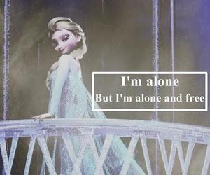 frozen, elsa, and alone image