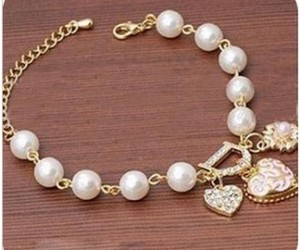 pearl, bracelet, and heart image
