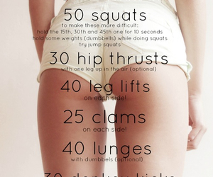 workout, fitness, and squats image