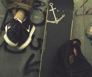 skate, nike, and boy image