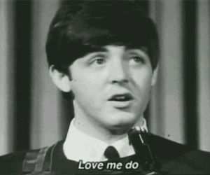 the beatles, Paul McCartney, and love me do image