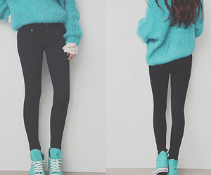 clothes, sweater, and trainers image