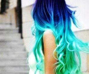 blue, hair, and light blue image