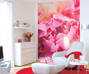 room, flowers, and pink image