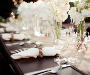 flowers, table, and wedding image