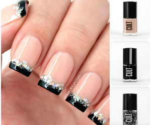 black, french, and glitter image