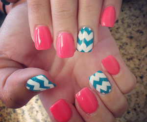 pink, nails, and blue image