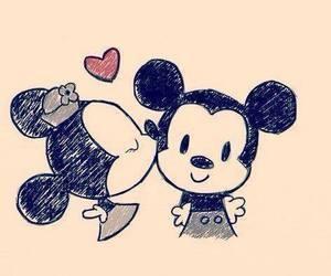 love, mickey, and minnie image