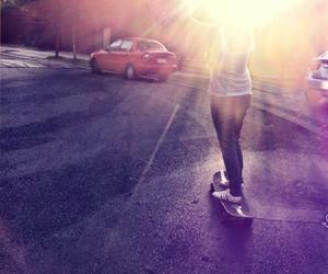 longboard, longboarding, and skate image