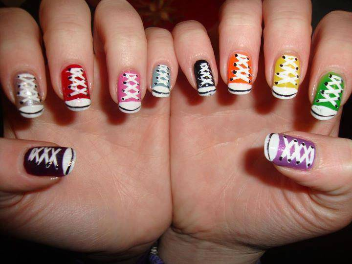 Converse Nails Nail Designs Picture on We Heart It