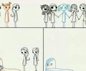 friends, true, and sad image