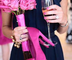 pink, shoes, and flowers image