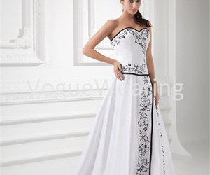 a-line wedding dresses, 2014 bridal dresses, and cheap wedding gowns image