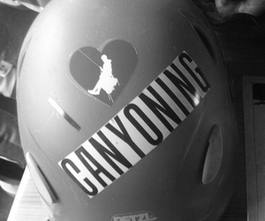 helmet, outdoor, and canyoning image
