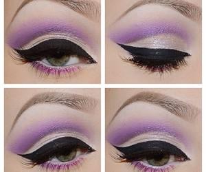 girl, makeup, and eye image