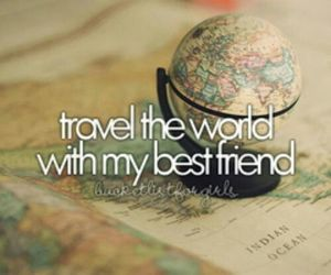 travel, world, and friends image