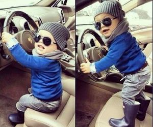 baby, car, and fashion image