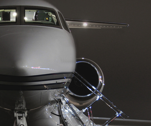 luxury, plane, and jet image