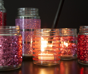 candle, glitter, and light image