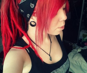 bandana, dreadlocks, and red hair image