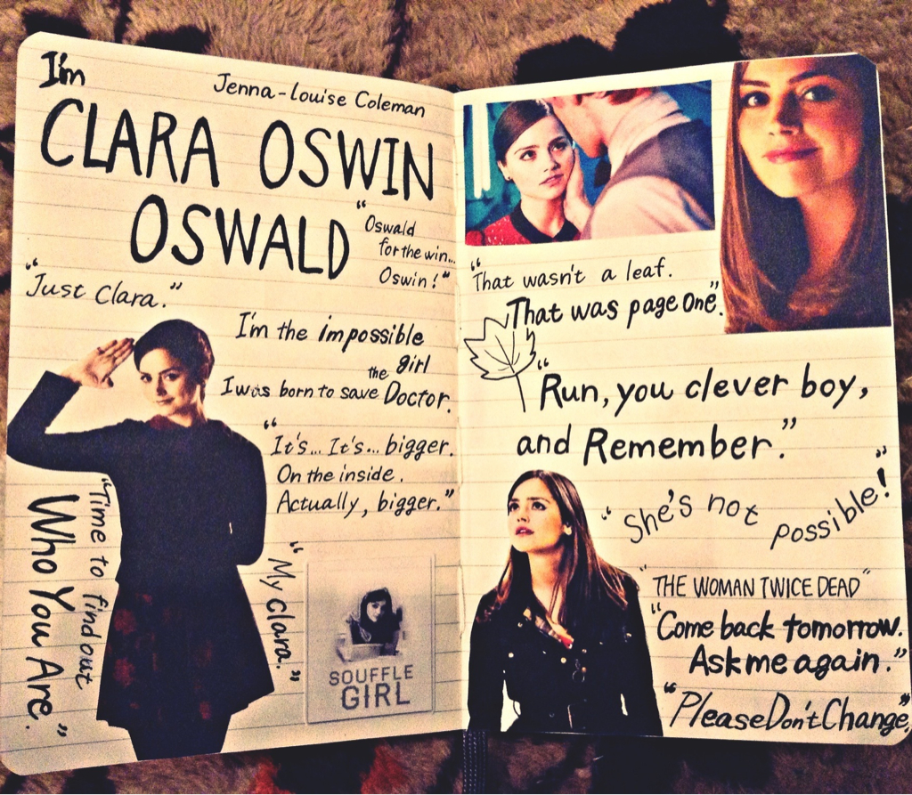 Image result for clara oswald notebook