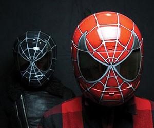 black, red, and helmet image