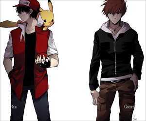 pikachu, pokemon, and red image