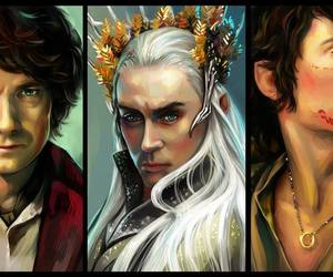 art, lord of the rings, and the hobbit image