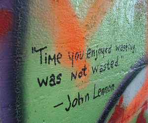 quote, john lennon, and time image