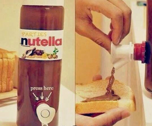 chocolate, nutella, and yummy image