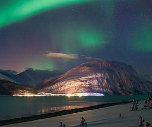 beautiful, snow, and lights image