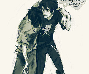 percy jackson, nico di angelo, and nico image