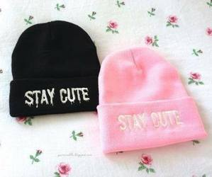 pink, cute, and black image