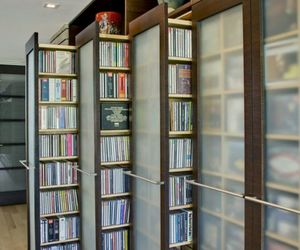 books, clear, and shelves image
