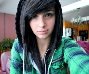girl, piercing, and whorederves image