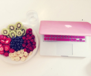 food, fruit, and macbook image