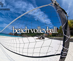 ball, beach, and beach volleyball image