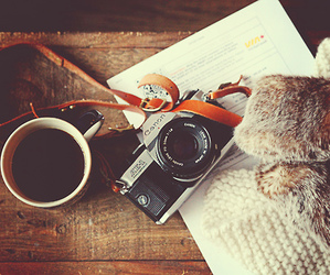 photography, camera, and coffee image