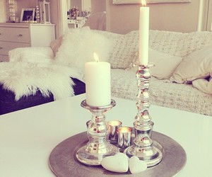 room, candle, and home image