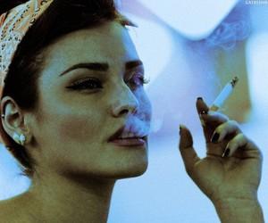girl, cigarette, and vintage image