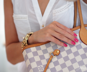 Louis Vuitton, nails, and style image